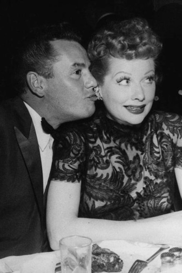 """<strong>DESI ARNAZ AND LUCILLE BALL</strong><br> Ricky Ricardo might have been all """"Honey, I'm home,"""" onscreen, but the couple behind <em>I Love Lucy</em> had their fair share of real life drama. Ball filed for divorce once in 1944 before the couple reconciled, but they did the thing for real in 1960."""