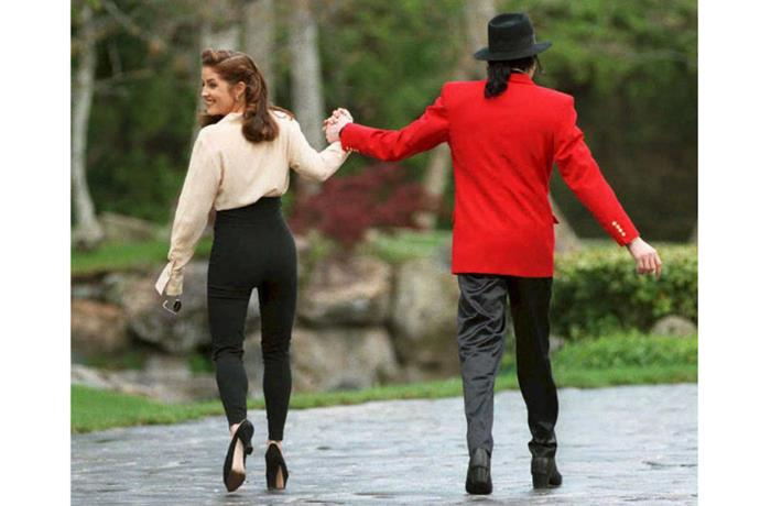 <strong>LISA MARIE PRESLEY AND MICHAEL JACKSON</strong><br> Lisa Marie Presley and Michael Jackson's marriage was, in a word, weird. But after they divorced in 1996, Presley went on to marry Nicolas Cage. Proof things can always get weirder?