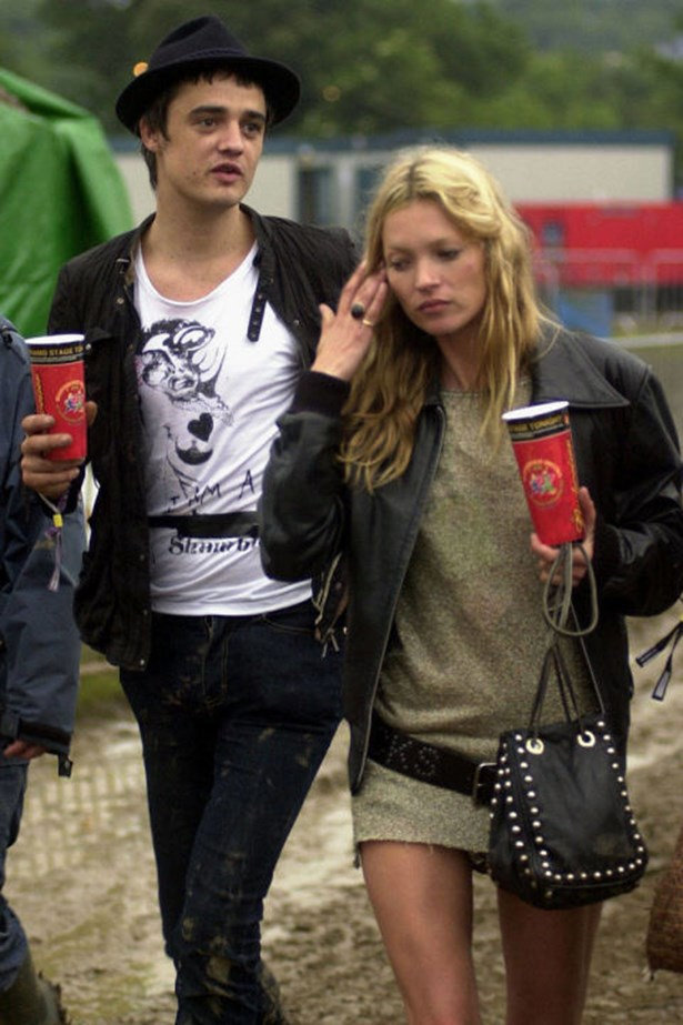 """<strong>PETE DOHERTY AND KATE MOSS</strong><br> Best known for their hard-partying ways, Doherty and Moss had an intense, on-again, off-again relationship. """"The last six weeks of our relationship were bad. We had one massive bust-up and it carried on from there,"""" Doherty once said. """"I was always dodging bullets...[it] became like the Vietnam War."""""""