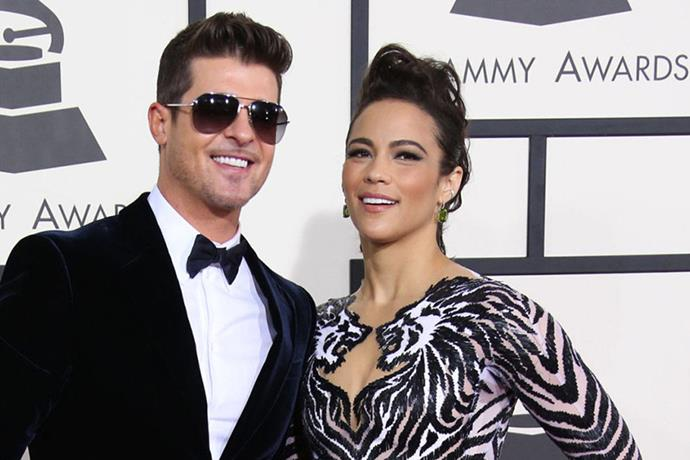 <strong>ROBIN THICKE AND PAULA PATTON</strong><br> With all the topless music videos, X-rated Miley Cyrus performances, and public pleas to take him back, what wasn't memorable about what went down with Robin Thicke and Paula Patton?