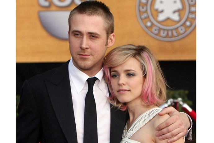 """<strong>RYAN GOSLING AND RACHEL MCADAMS</strong><br> """"If I'm a bird, you're a bird."""" When The Notebook stars broke up in 2007, a zillion mushy hearts were crushed."""