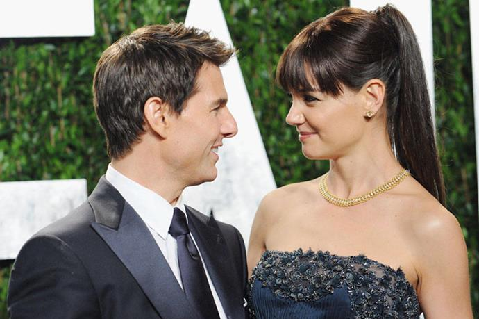 <strong>TOM CRUISE AND KATIE HOLMES</strong><br> Well, the five-year contract was up, right?