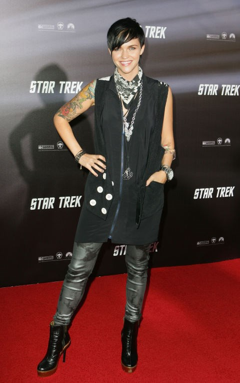 APRIL 7, 2009 At the Star Trek World Premiere.
