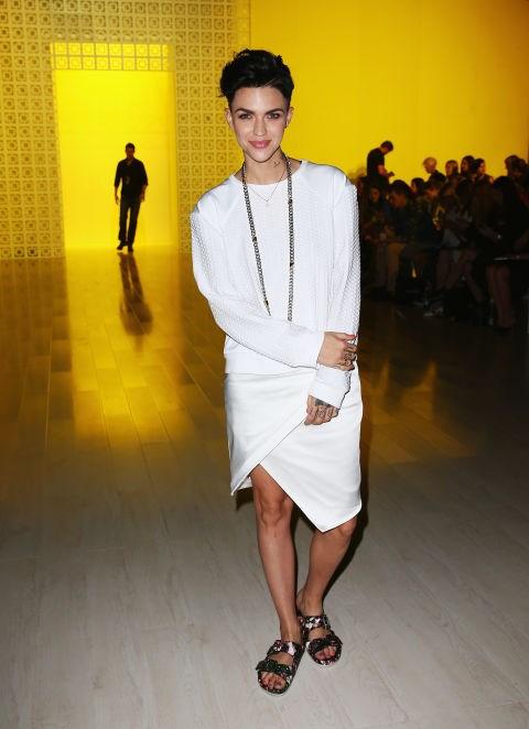 APRIL 9, 2014 At the Suboo presentation during Mercedes-Benz Fashion Week Australia.