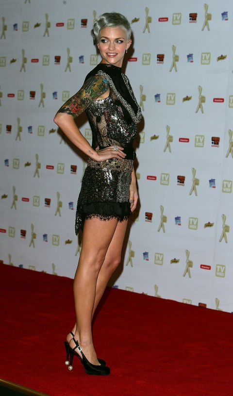MAY 2, 2010 At the 52nd TV Week Logie Awards. GETTY / DON ARNOLD