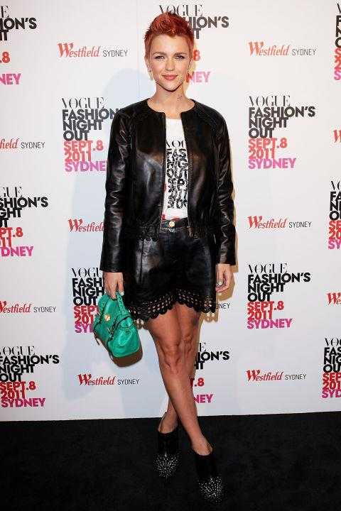 SEPTEMBER 8, 2011 At Fashion's Night Out in Sydney. GETTY / LISA MAREE WILLIAMS