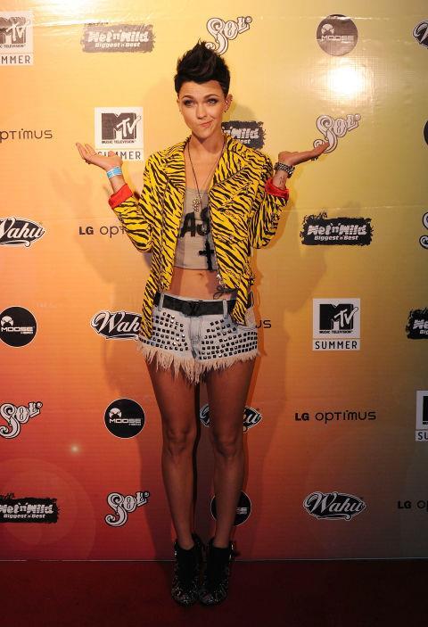 NOVEMBER 11, 2010 Attending the MTV Summer Party.