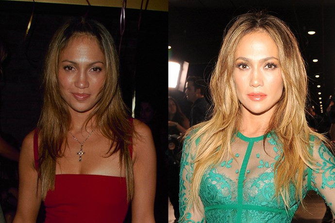 <strong>JENNIFER LOPEZ</strong> <br><br>Age: 45 <br><br>We think J.Lo is actually aging backwards. And if her impossibly chiselled abs are any indication, staying in killer shape is a huge factor. For that, Lopez credit the Tracy Anderson Method, and she makes working out a priority. <br><br> She's also so committed to her diet that she recently launched BodyLab, a wellness brand that ceners around protein shales and supplements. And finally, that skin! Lopez just follows a simple regimen of anti-aging creams and, like just about everyone else, advises to wash off your makeup before bed.