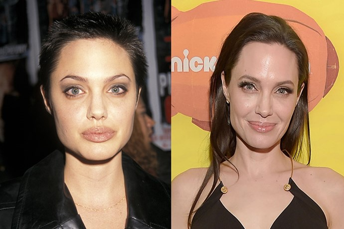 """<strong>ANGELINA JOLIE</strong> <br><br>Age: 40 <br><br>The actress, director, and honorary dame doesn't scrimp when it comes to taking care of herself. In order to maintain her radiant visage, she relies on smearing caviar on her face – La Prairie's Skin Caviar, that is, which really does contain fish eggs and run at $710 a pop. <br><br>As for her diet, she tried veganism for a while, only to find that """"it almost killed her"""" – the nutritional changes weren't right for her body. (Husband Brad Pitt remains committed to the lifestyle. Instead she opts for eating a diet rich in ancient grains, and while she isn't a fan of Hollywood's yoga craze, she does kickboxing and cardio exercises with a trainer."""
