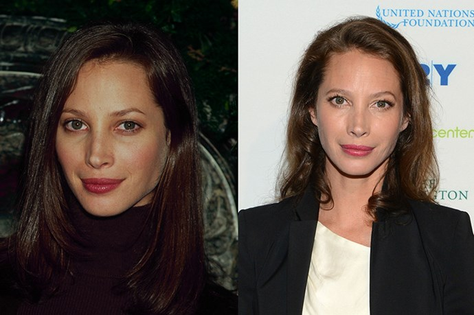 """<strong>CHRISTY TURLINGTON </strong> <br><br>Age:46 <br><br> """"Everybody is so anti-aging, but I don't want to look younger than I am,"""" Christy Turlington revealed to <em><a href=""""http://www.elle.com/fashion/news/a24957/christy-turlington-burns-quotes-fashion-photos/?src=spr_TWITTER&spr_id=1448_65288085&linkId=8548378"""">ELLE</a></em> earlier this year. """"Our face is a map of our life; the more that's there, the better."""" <br><br>It's a refreshing outlook for sure – but let's face it, the supermodel and philanthropist has never looked better. Still, perhaps she has this kind of zen, que sera sera attitude to thank: Turlington is an avid yogi and runs marathons, but prefers an everything-in-moderation approach to her diet."""