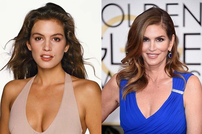 """<strong>CINDY CRAWFORD</strong> <br><br>Age: 49 <br><br>Sure, Cindy Crawford is obviously in the business of looking good – but it's been almost 30 years since she was a runway regular, and the mom of two somehow looks almost exactly the same. But if you think the supermodel has a mysterious, complicated regime (or, ya knw, an elixir) up her sleeve, think again. """"The secret is that there's no secret,"""" she recently told <a href=""""http://go.redirectingat.com/?id=74968X1525074&site=elle.com&xs=1&isjs=1&url=http%3A%2F%2Fwww.violetgrey.com%2Fviolet-files%2Fcover-story%2Fcindy-crawford&xguid=a106155dc9680f05336158d48daf64b5&xuuid=9e73aeb32e81717e44ef17eb9bf1ee22&xsessid=f0f37357a07cc3393833a80acbcb0b09&xcreo=0&xed=0&sref=http%3A%2F%2Fwww.elle.com%2Fbeauty%2Fg26467%2Fcelebrity-anti-aging-secrets%2F%3Fslide%3D9&xtz=-600"""">Violet Grey</a>. <br><br> """"Do all the stuff we know: Don't smoke, get enough sleep, drink plenty of water, find what makes you happy."""" She also swears by Chinese medicine, a morning superfood smoothie, and her skincare line, <strong>Meaningful Beauty</strong>. Another winning tip? Patience. """"When a 35-year-old starts taking care of her skin, she won't look different. It's when you're my age that you start seeing the payoff,"""" she says."""