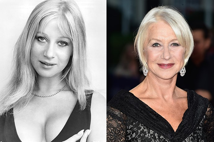 """<strong>HELEN MIRREN</strong> <br><br>Age: 69 <br><br> """"Is she a wizard?"""" Liz Lemon asks incredulously of Helen Mirren's bikini body in season 4 of 30 Rock. And trust us, Tina Fey, we're with you – the 69-year-old Mirren never ceases to awe us with her age defying looks, whether she's donning a little swimsuit or a red carpet gown. <br><br>We know that one of her secrets has to be confidence, but Mirren also relies on a worry-free attitude. """"My mother told me an amazingly wise thing that I've found to be true, which is that you should never worry about getting older,"""" she told <a href=""""http://www.mirror.co.uk/3am/celebrity-news/the-secrets-to-dame-helen-mirrens-amazing-145259""""><em>The Mirror</em></a> in 2011. """"Because an amazing things happens. As you reach each age you find, like a miracle, you've got the weapons, or tools, to deal with it… [And,}, you've realised you're not the only person in the world, and beauty's not the most important thing. To be obsessed by your looks is pathetic."""" <br><br> That being said, Mirren does rely on a few tricks to take care of herself: sleep, for one. """"When I'm working hard, I don't party – I just go to bed,"""" she said. As for those great legs: """"Four-inch platform heels give you great height and makes your legs look unbelievably long. I used to get them in stripper shops but now you can buy them everywhere."""" Well, then …"""
