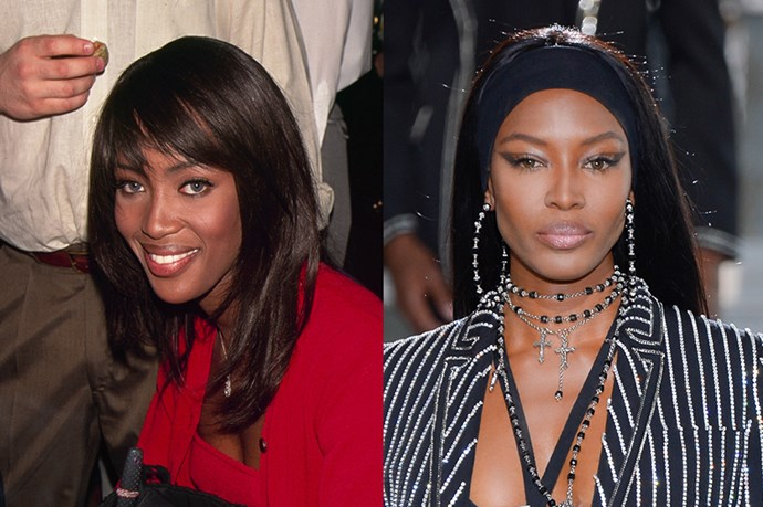 """<strong>NAOMI CAMPBELL</strong> <br><br>Age: 45 <br><br>Campbell has been stomping the runways for over 20 years – she closed Zac Posen's catwalk in a show-stopping burgundy gown earlier this year. Her career seems to have never slowed down, and Campbell keeps her energy going with a very healthy, vegetarian diet, <a href=""""http://www.elle.com/culture/celebrities/news/a24245/naomi-campbell-the-face-interview/"""">she told us last year</a>. <br><br>As for beauty, she's undoubtedly picked up some major insider tips throughout the past couple of decades, but she<a href=""""http://www.today.com/health/supermodel-naomi-campbell-shares-6-beauty-secrets-2D80445158""""> recently told <em>TODAY</em> </a>that she starts from the inside out. """"First thing in the morning, it's warm water with lime juice,"""" she said. She chases that with a green juice. She's also all about yoga and Pilates, and keeps her skin smooth with moisturizer."""