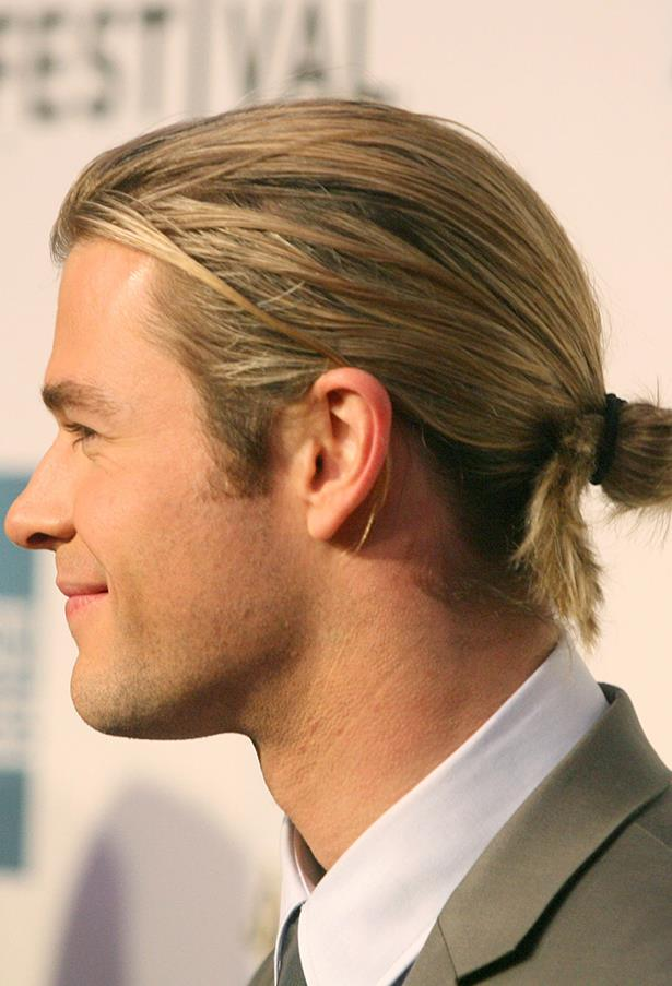 OK it's a man bun, but it's Chris Hemsworth's man-bun and it deserves its own award category or something.