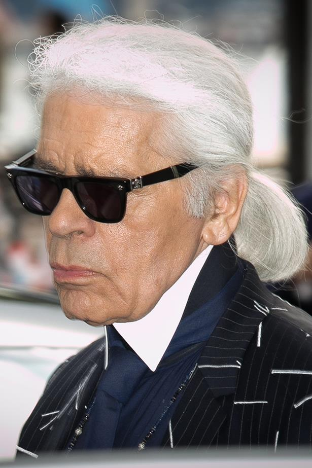 Karl's ponytail has long been his perfectly coiffed signature.