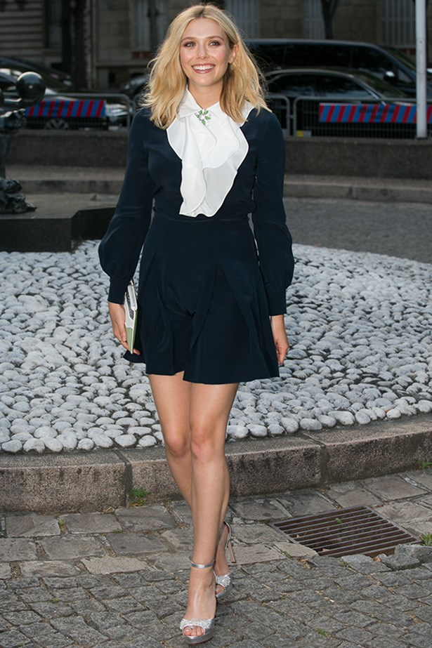Elizabeth Olsen post wind gust. Also making a case for brooches, right?