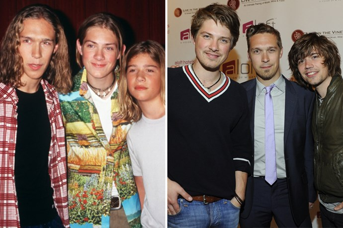<strong>Hanson</strong> Mmmbop right!? Everybody had a favourite Hanson brother (though poor old Ike tended to get skipped a bit). Now all of the brothers are married and still making music together.