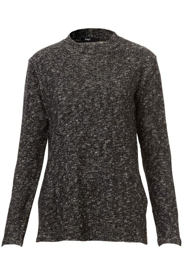 "Sweater, $79.95, Sportsgirl, <a href=""http://www.sportsgirl.com.au/textured-longline-mock-neck-top-mono"">sportsgirl.com.au</a>"