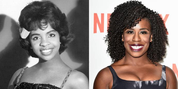 Gladys Knight (1970) and Uzo Aduba