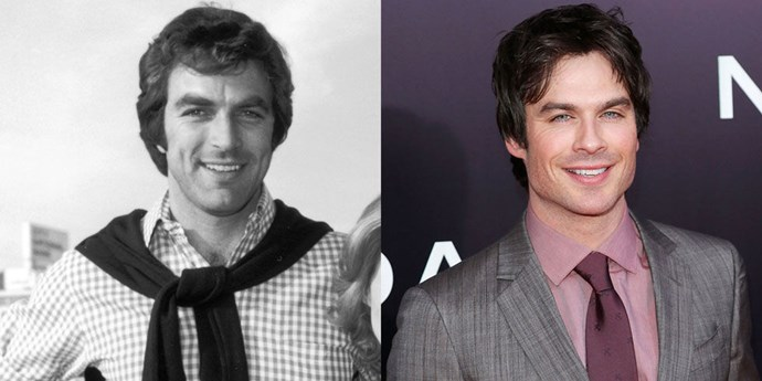 Tom Selleck (1974) and Ian Somerhalder