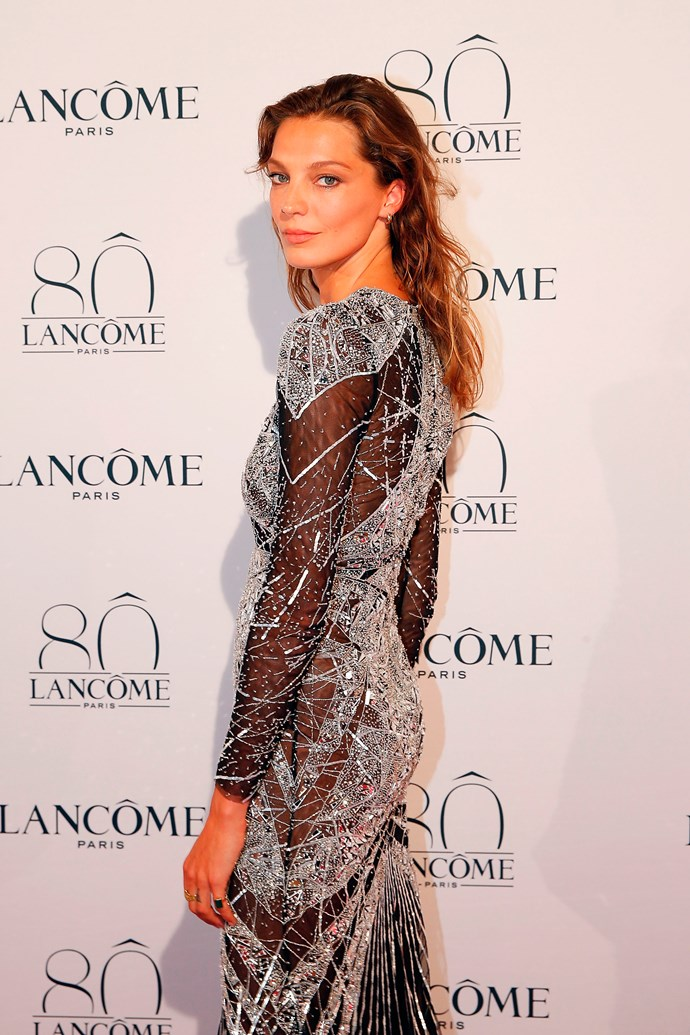 Daria Werbowy attends Lancôme's 80th anniversary in Paris.