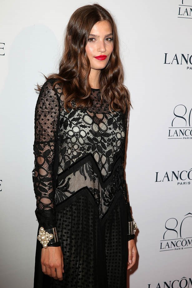 Alma Jodorowsky attends Lancôme's 80th anniversary in Paris.