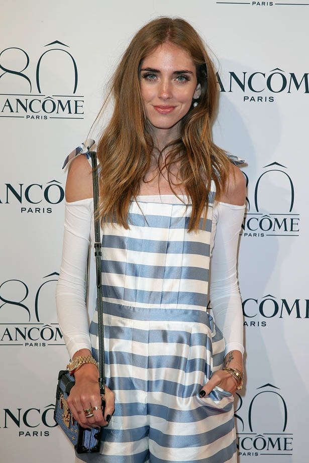 Chiara Ferragni attends Lancôme's 80th anniversary in Paris.