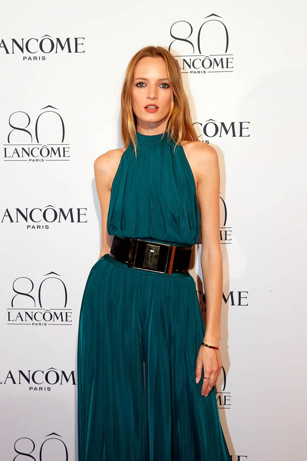 Daria Strokus attends Lancôme's 80th anniversary in Paris.