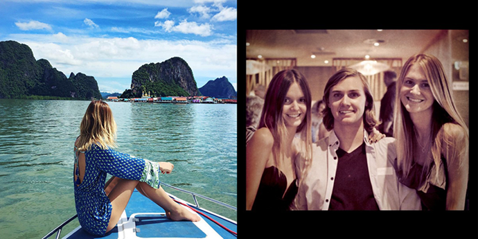 Posting to 1.7million from idyllic Thailand, Jessica has come a long way from filtered dinner shots with the fam.