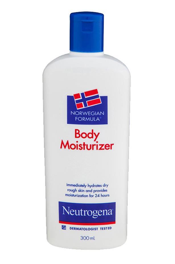 "<strong>The budget-buy old faithful  </strong> <br><br>Norwegian Formula Body Moisturiser, $9.99, Neutrogena, <a href=""https://www.priceline.com.au/skincare/hand-and-body/body-moisturisers/norwegian-formula-body-moisturiser-300-ml"">priceline.com.au</a>"