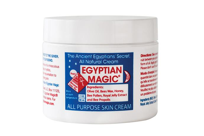 """<strong>The ultimate hand bag fix it</strong> The ultimate hand bag fix it <br><br>All Purpose Skin Cream (59mL), $34.95, Egyptian Magic, <a href=""""http://www.adorebeauty.com.au/lip-care/egyptian-magic-all-purpose-skin-cream-59ml.html"""">adorebeauty.com.au</a>"""