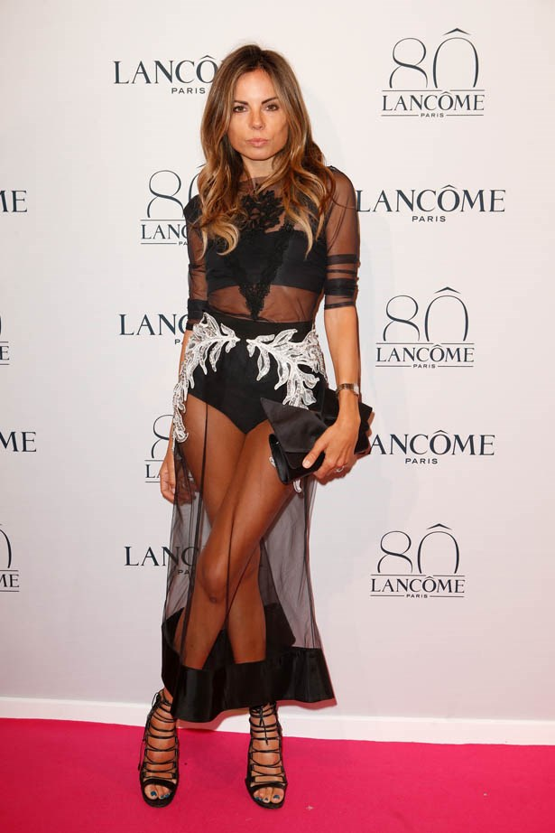 Erica Pelosini attends Lancôme's 80th anniversary in Paris.