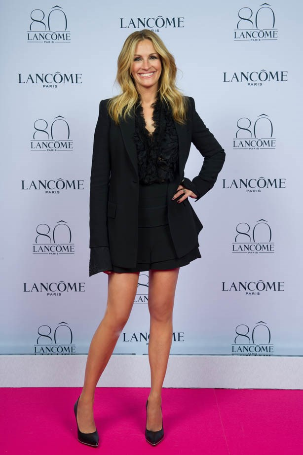 Julia Roberts attends Lancôme's 80th anniversary in Paris.
