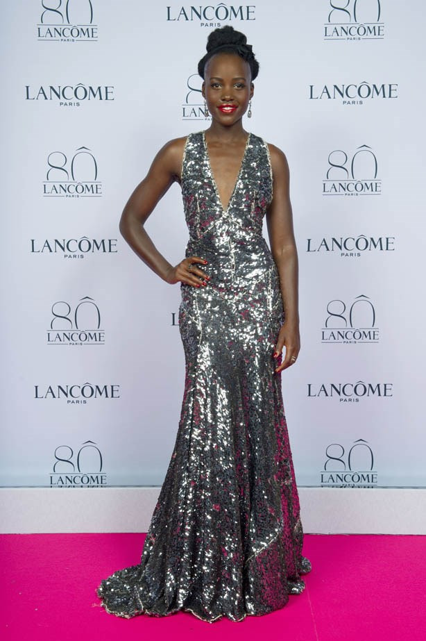 Lupita Nyong'o attends Lancôme's 80th anniversary in Paris.