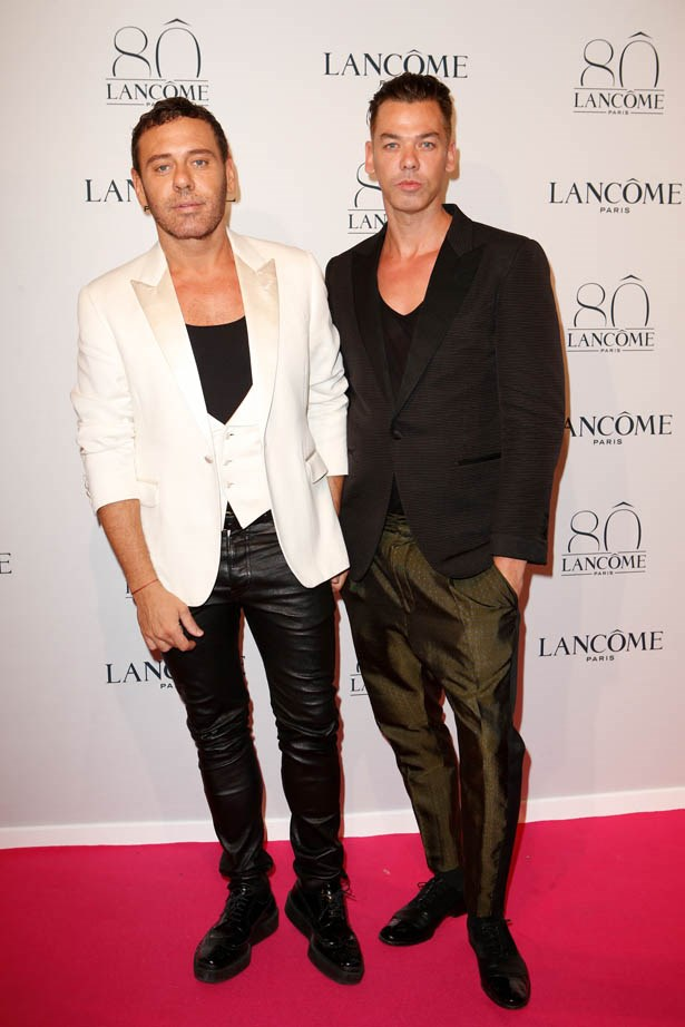 Mert Alas and Marcus Piggott attends Lancôme's 80th anniversary in Paris.