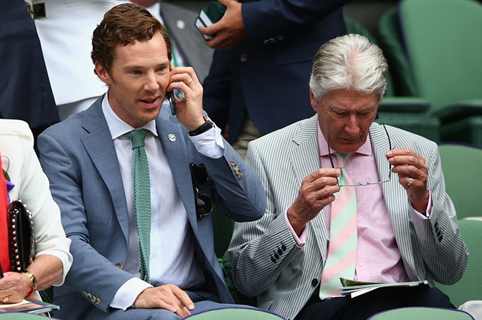 Benedict Cumberbatch brought his dad, dominated.