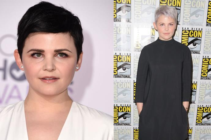 """<p> <strong>Ginnifer Goodwin</strong></p> <p>Ginnifer Goodwin debuted frosted lavender hair at Comic Con in San Diego in July. She told US Weekly the new look, """"It took eight hours of bleaching—eight hours! """"I got a headache—it was a whole big thing—but it was worth it."""" So worth it. </p>"""
