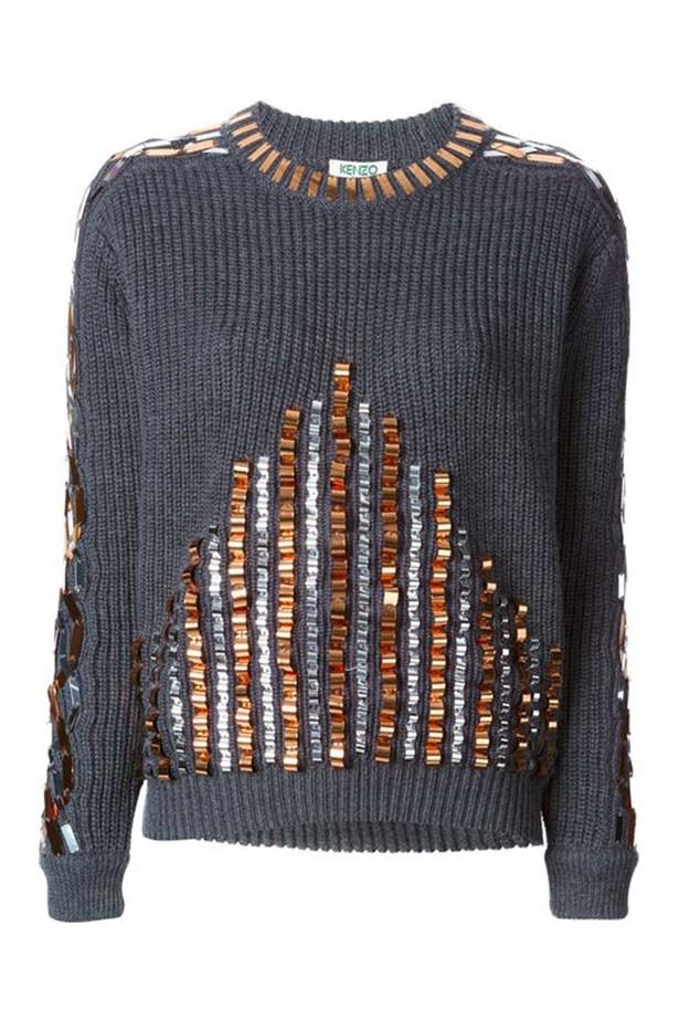 "Jumper, $800, Kenzo, <a href=""http://www.farfetch.com/au/shopping/women/kenzo-embellished-sweater-item-10846942.aspx?storeid=9178&ffref=lp_99_4_""></a>"