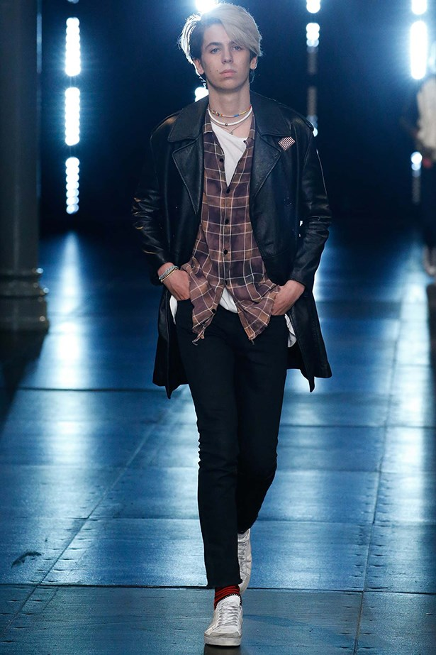 Gary Oldman's son, Charlie, took to the Saint Laurent runway this season to prove that the cool factor is definitely inheritable.