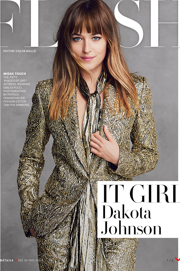 Before she was getting blindfolded and spanked by Jamie Dornan in Fifty Shades of Grey, Melanie Griffith's daughter, Dakota Johnson, was no stranger to a photoshoot, or two.