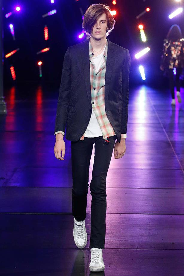 Pierce Brosnan's son, Dylan, also walked for Saint Laurent this season.
