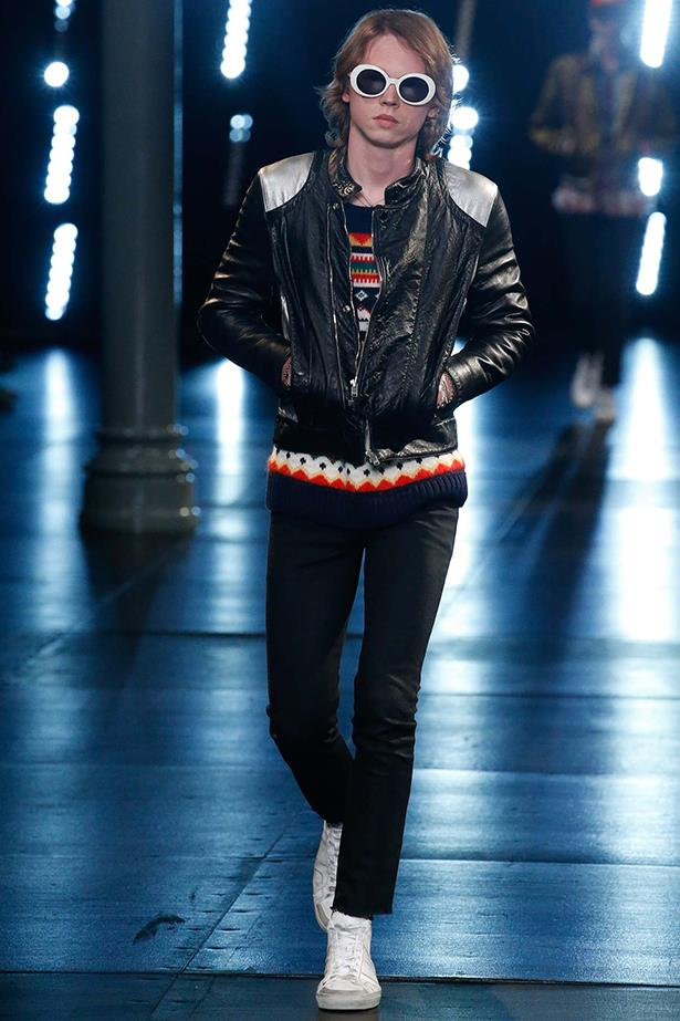 Jack Kilmer, son of Val Kilmer, also made an appearance at the Saint Laurent show.
