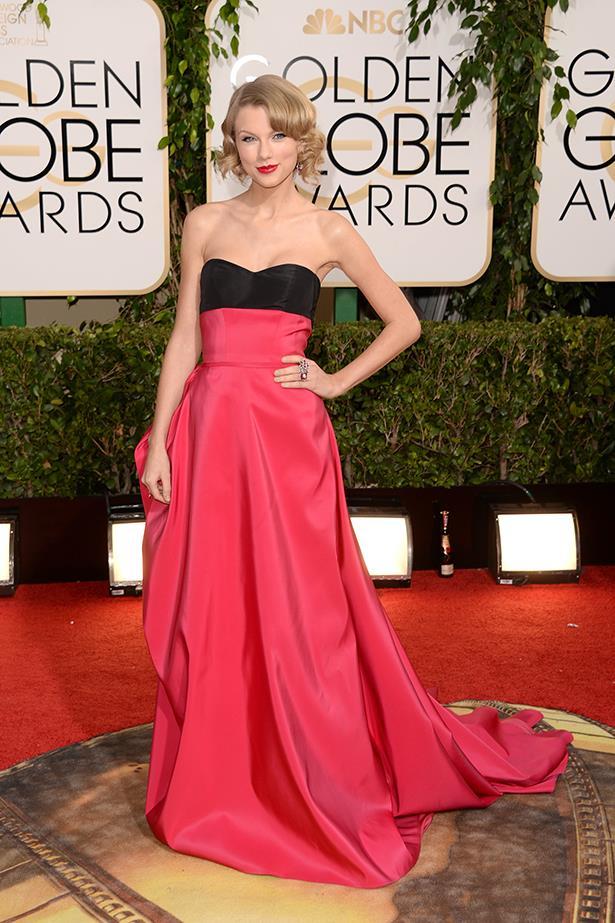 Taylor Swift In Carolina Herrera – 2014 Golden Globe Awards