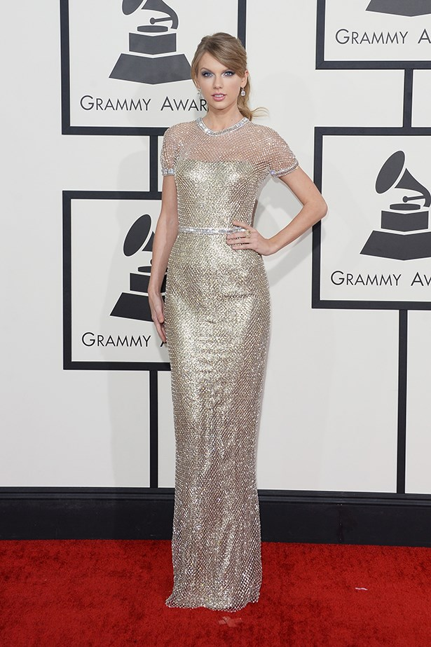 Taylor Swift In Gucci Première – 2014 Grammy Awards
