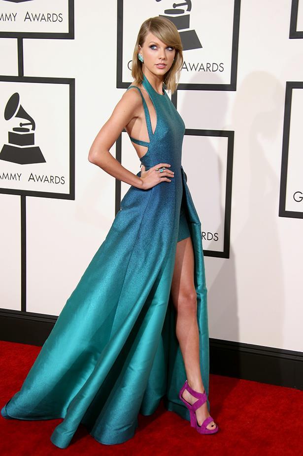 Taylor Swift In Elie Saab – 2015 Grammy Awards