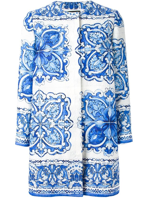 Coat, $4899.25, Dolce & Gabbana.
