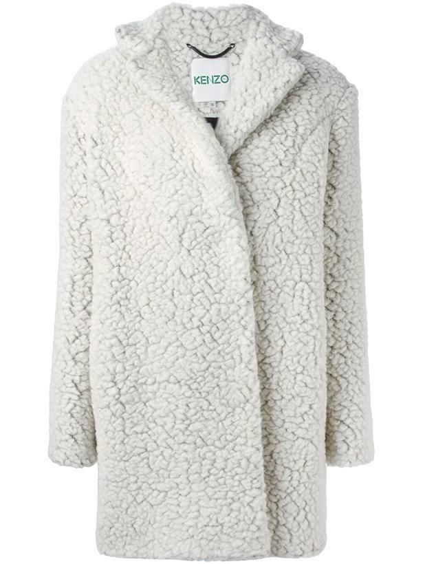 Coat, $735.36, Kenzo.