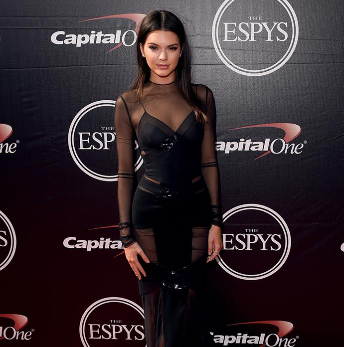 Kendall Jenner went super sheer at the ESPYS.