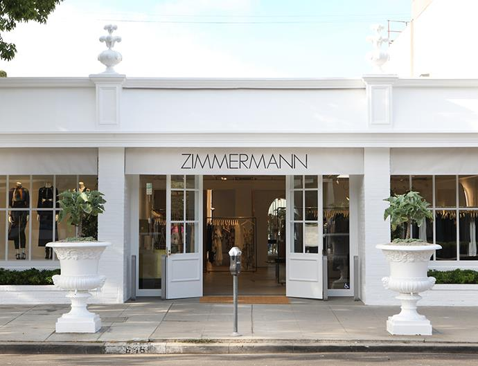 Zimmermann's store in Melrose Place