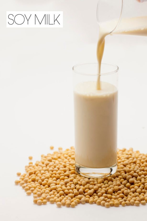 "<strong>SOY MILK</strong> <br> <br> While soy milk has a lower saturated fat content to full cream milk, keep in mind it also contains phytoestrogen, which can accelerate calcium absorption. <br> <br> <em><a href=""http://www.elle.com/beauty/health-fitness/advice/a14744/milk/"">Elle.com</a> </em>reported that as soy milk is often highly processed and contains many additives, many nutritionists recommend it arguing that soy is toxic to the body unless it's fermented. Unfermented forms of soy are known to cause an imbalance of sex hormones, inhibit protein absorption, and deplete the thyroid of iodine, one of the most important minerals needed for growth and metabolism."
